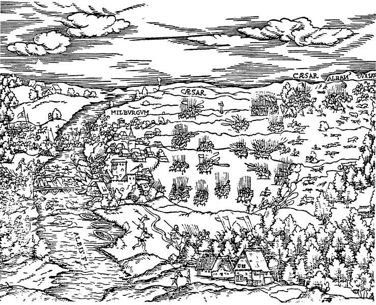 """Batalla de Mühlberg en el libro """"Comentario"""" de Luis de Ávila y Zúñiga"""