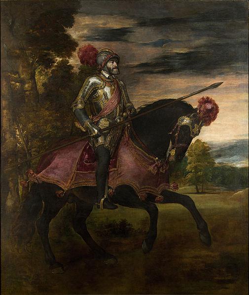Carlos V en la batalla de Mühlberg, pintado por Tiziano