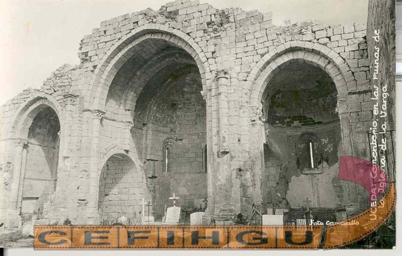 Cementerio en las ruinas de Iglesia de Santa María de la Varga