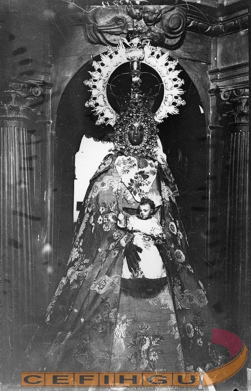 Imagen de la Virgen de la Varga. Hoy desaparecida