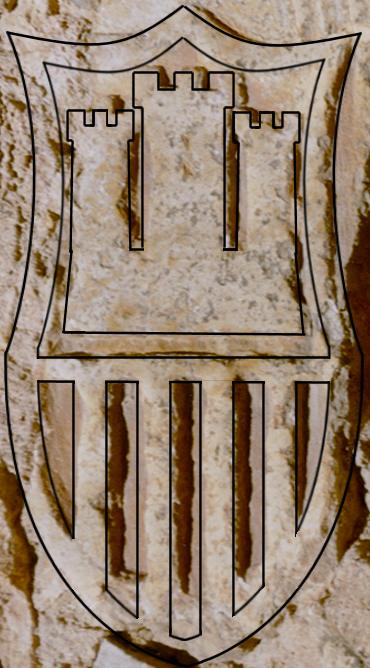 Contorno de los elementos sobre el escudo