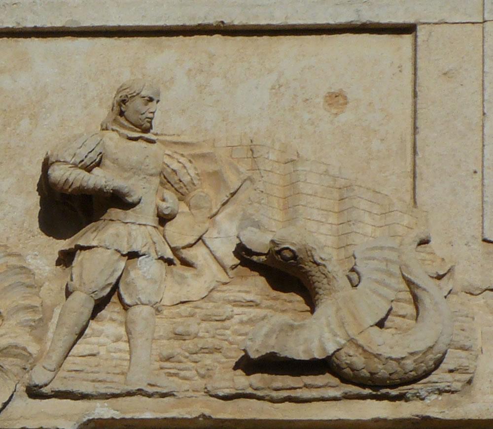 El Capitán Bolea enfrentándose a la Sierpe alada